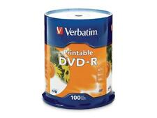 Verbatim 4.7GB 16X DVD-R Inkjet Printable 100 Packs Disc Model 95153