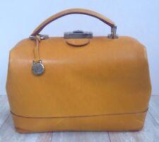 Dooney & Bourke Rare Tan Leather Doctors Satchel Bag Handbag Purse Made In Italy