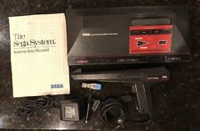 Sega Master System Console Model 3010-A w/ Light Phaser Controller Missing Parts