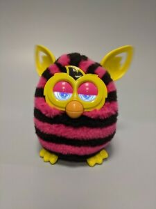 Furby - Pink & Black Striped interactive electronic pet - 2012 working