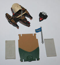 1988 Galoob Micro Machines Helicopter Back Door & Flag & Other Parts
