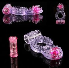 Vibrating Cock Ring for Long Pleasure Stretchy Jelly Feel with Bead Male Sex Toy