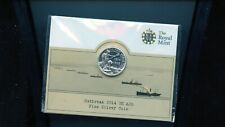 2014 Great Britain UK Silver £20 Outbreak of World War I Silver Coin BL50a