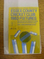 1983 Fixture List: Essex County Cricket Club - Fold Out Card. Any faults with th