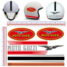 Adesivi casco moto guzzi sticker helmet motorcycle tuning decal print pvc 7 pz.