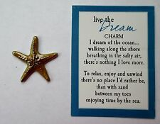 aa ENJOY Starfish Star Fish By The Sea LIVE THE DREAM Pocket Token Charm ganz