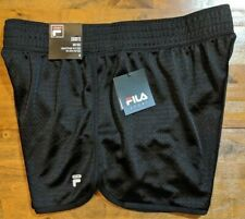 FILA SPORT TRU-DRY MESH SHORTS - WOMEN'S MEDIUM M (Black) NWT