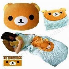 handmade San-x Rilakkuma Relax Bear Back Cushion Pillow Air Conditioning Blanket