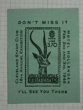 1946 Cleveland Stamp Club 18th Annual Expo Event Ad Souvenir Philatelic show