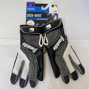 Franklin Shok Wave Youth Batting Gloves Youth Size Medium
