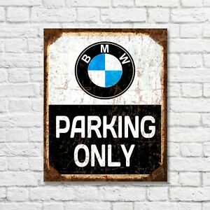 BMW Parking only sign, BMW parking sign, BMW metal sign, BMW custom sign gift
