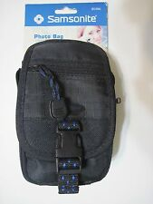 Samsonite Photo Camera & Storage Bag With 5 Pockets Shoulder & Belt Strap 803BK