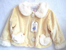 Fuzzy Wear Chick Baby Girls Jacket Coat size 12-18M Yellow w/ Chicken Pockets