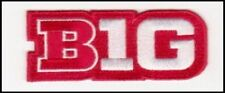 NEBRASKA RED  JERSEY BIG TEN LOGO PATCH NCAA COLLEGE FOOTBALL BASKETBALL