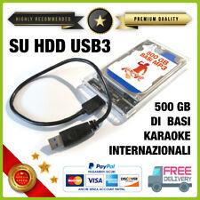 500 Gb BASI MUSICALI MP3 SU HDD ESTERNO USB 3 raccolta COMPLETA Karaoke no midi