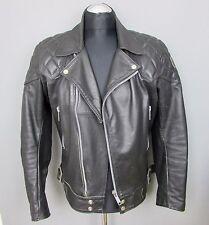 Vintage années 1980 tt cuir noir perfecto veste moto taille 38 Biker