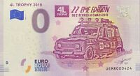 BILLET 0  EURO 4L TROPHY 2019 22éme EDITION FRANCE   2019-1 NUMERO RADAR 424