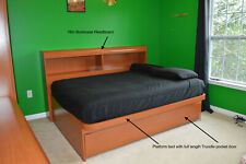 Bedroom set - 5 Pieces - Cherry finish - Price Drop!