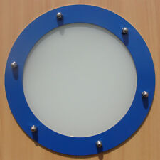 PORTHOLE FOR DOORS STAINLESS STEEL COLOR phi 230 mm flat
