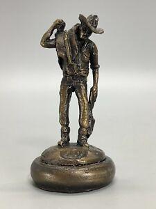 Eddie Hackman Miniature Cast Bronze The Ringer