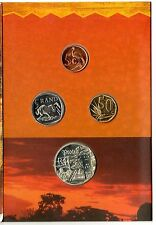 South Africa 4 Coin BU Mint Set 1999 Includes a Sterling Silver One Rand Protea