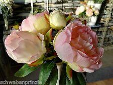Rosa Gebundener Pfingstrosen Kunstblume Künstlicher Strauß Seidenblumen Paeonia