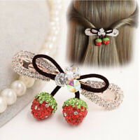 Fashion Women Strawberry Rhinestone Hair Clip Headband Hairpin Headwear Gift