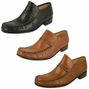 Mens Grenson Feathermaster Leather Slip On Shoes Nevada