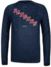 New York Rangers Reebok Heather Navy Ultimate Jersey Crest Long Sleeve Synthetic