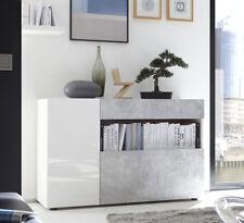 Credenza madia bianco lucido e beton