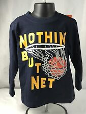 NWT Gymboree Toddler Boy 2T Basketball Long Sleeve Tee Shirt Navy Sports