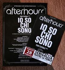 AFTERHOURS 2 PROMO FLYERS da  IO SO CHI SONO tour, mini poster Marlene Verdena