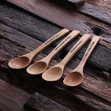 Bespoke 4pc Bamboo Mood Teaspoons Engraved Monogrammed Personalised