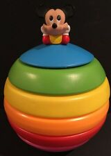 Vintage 1984 1988 Disney Mickey Mouse Stack A Ball Seven Towns Toy