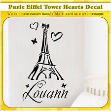 Eiffel Tower Wall Vinyl Sticker Decals Paris Silhouette France Decor Decal 100