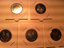 SERIE 5 ATELIERS X 2 EURO ALLEMAGNE 2014 A D F G J COMMEMORATIVE