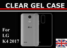 For LG K4 2017 Transparent Clear Back Case Silicone Gel Case TPU Cover Skin