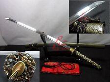 Battle ready folded steel Clay tempered blade dragon tsuba katana sword sharp
