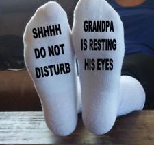 Shhhh Grandpa Is Resting His Eyes, Funny Socks, Father Socks, Grandfather Socks