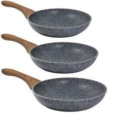 3x Bratpfannen Pfannen-Set+Granitbeschichtung Granitbratpfanne Pfanne Pfannenset