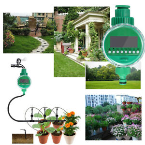 Bewässerungsuhr Automatische Wasser Zeitschaltuhr LCD Timer Garten Bewässerung