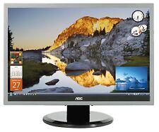 """AOC 2219p2 22"""" TFT widescreen da 1680 x 1050 MONITOR LCD 2ms DVI VGA AUDIO IN"""