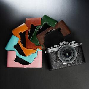 Cowhide Genuine Leather Half Case Fr Nikon ZFC Z fc Z-FC Camera Cover Protective