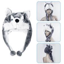 Wolf Hat Cute Fluffy Kids Cap Cartoon Animal Style Soft Warm Earmuff Plush Hat