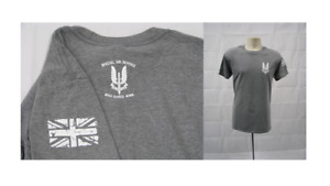 SAS T-shirt UK Special Forces - Grey - High Quality - X-Large Mens