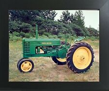 1939 John Deere Vintage Farm Tractor Contemporary Black Framed Art Print Picture