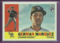German Marquez RC 2017 Topps Archives Rookie Card # 71 Colorado Rockies Baseball