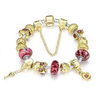 Beadarmband Bettelarmband Armreif Silber Charms Anhänger Armband Gold Blumen