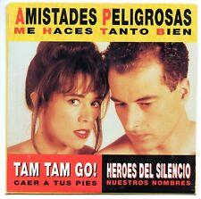 HEROES DEL SILENCIO Nuestros nombres + AMISTADES PELIGROSAS CD SINGLE PROMO RARO