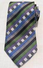 "Giorgio Armani Italy Mens Tie Classic Hand-Made 60""L/ 4""W Silk Geometric Print"
